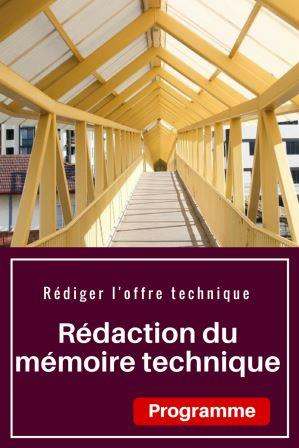 Formation : Rédaction du mémoire technique